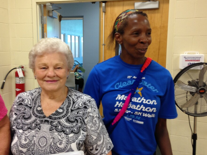 Ferne Mayak of St. Petersburg and her instructor, Lois Huyghue, at a recent Diabetes Prevention program graduation in St. Petersburg