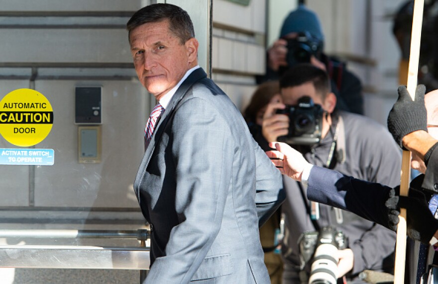 Former US National Security Advisor General Michael Flynn arrives for his sentencing hearing in Washington, DC on December 18, 2018.
