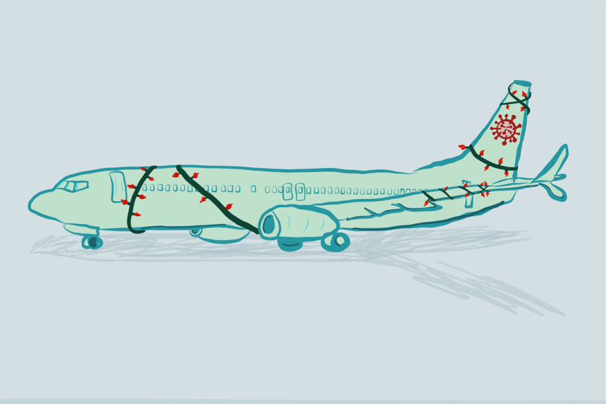 covid-airplane illustration - khn.png