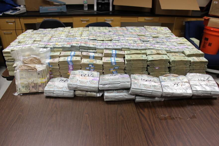 Police are still counting the money.