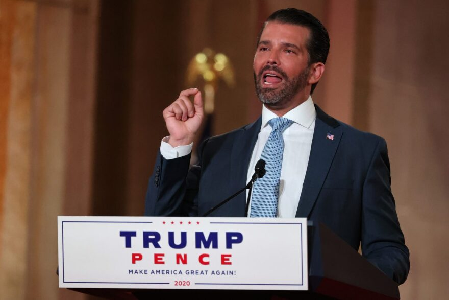 Donald Trump Jr. pre-records his address to the Republican National Convention.