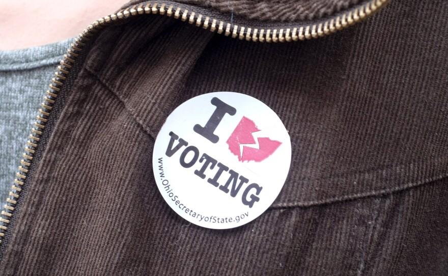 photo of a non-voting sticker