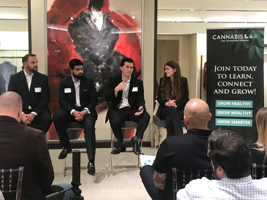 Lawyers, accountants and other professionals gathered Thursday night for a monthly session on how to get involved in the cannabis industry.