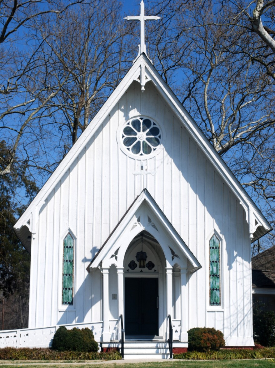<strong> Tale Of Two Churches:</strong> The St. Stephen's Church in Heathsville, Va., has been at the center of an ugly custody battle between the St. Stephen's Episcopal Church and the newly affiliated St. Stephen's Anglican Church.