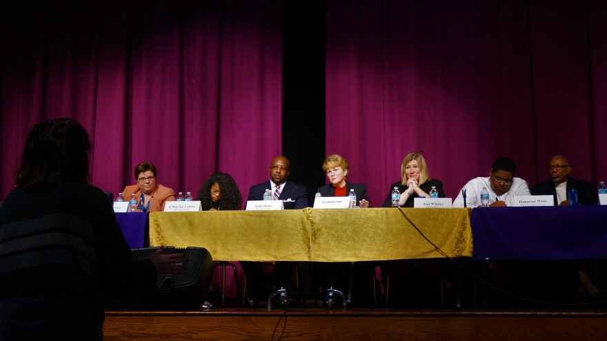 Dozens of DPS students and parents from across the  district attended the town hall, where students posed questions about issues including school violence, lack of parental involvement and after-school activities to district and city officials.