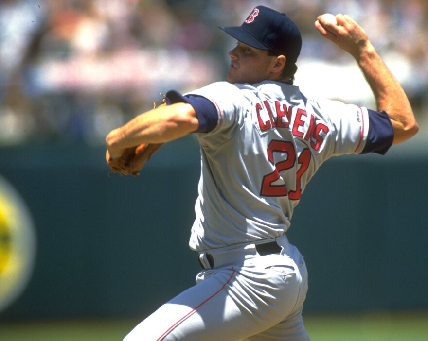Roger Clemens in 1991, when he pitched for the Boston Red Sox.