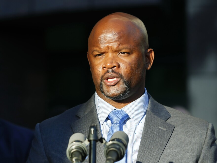 Broward County Sheriff Gregory Tony, seen in January, has announced the firings of two more deputies over their failure to act during the 2018 shootings at Marjory Stoneman Douglas High School in Parkland, Fla.