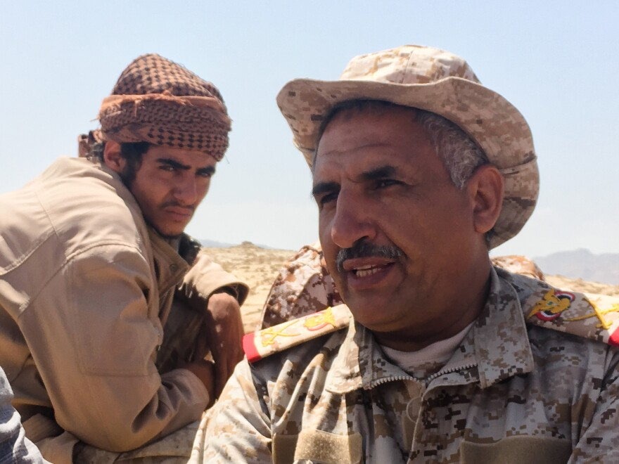 """Gen. Nasser al-Thebani, a Yemeni commander, told NPR recently: """"Our strategy is to liberate all Yemeni territory."""""""