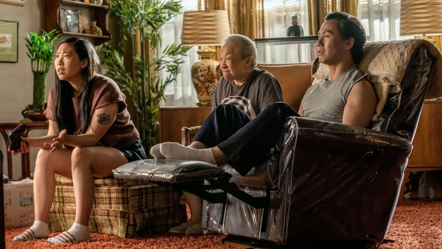 Awkwafina, Lori Tan Chinn and BD Wong in <em>Awkwafina Is Nora From Queens</em>.