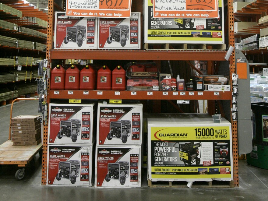 Portable generator sales fluctuate yearly based on weather-related power outages, but demand remains high. Since 2007, all portable generators have been required to include labels warning about carbon monoxide poisoning.