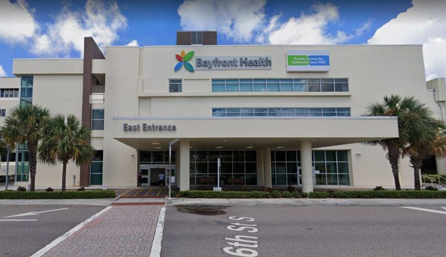 Bayfront health St. Petersburg east entrance