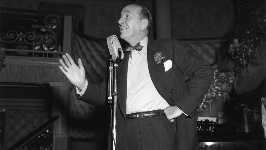 Actor, playwright and composer Noel Coward rehearses for a show in 1951. A rare recording of Coward introducing his play<em> Peace in Our Time</em> is just one of the millions of sounds and recordings the British Library is looking to preserve.