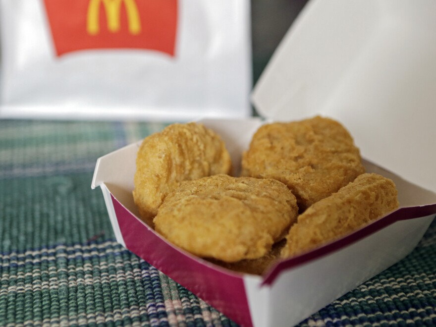 Chicken served at McDonald's won't necessarily be raised completely without antibiotics — but it will be raised without antibiotics used for human medicine.