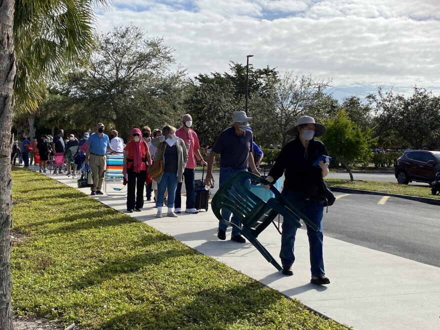 WLRN - Seniors in line for Covid vaccine