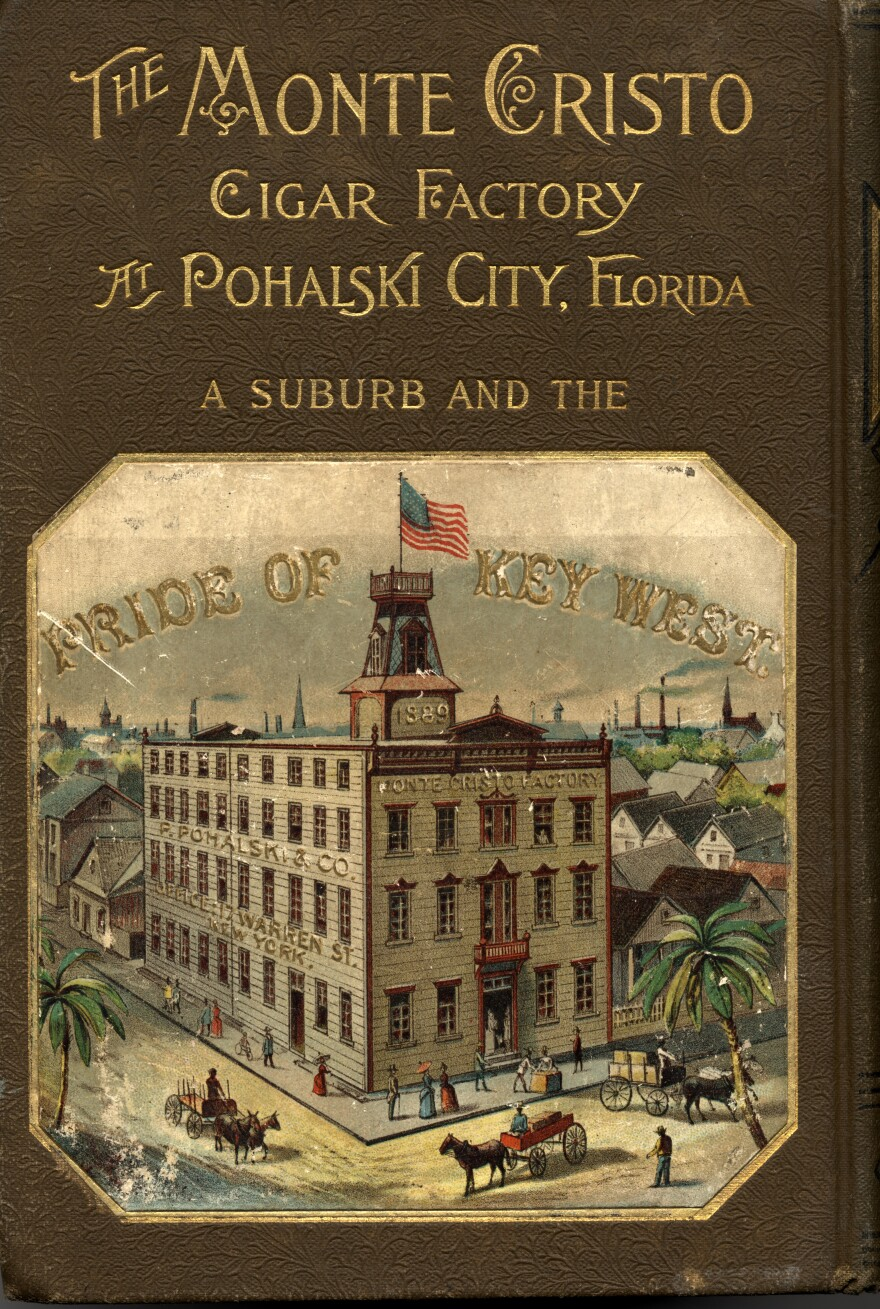 The Pohalski Cigar Factory on the cover of an edition of The Count of Monte Cristo