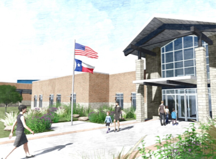 "A mock-up of Wimberley's ""one water"" school."
