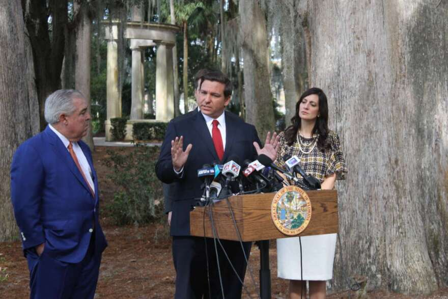 Gov. Ron DeSantis at a press conference in Winter Park in January announced a change in the state's approach to smokable medical marijuana.