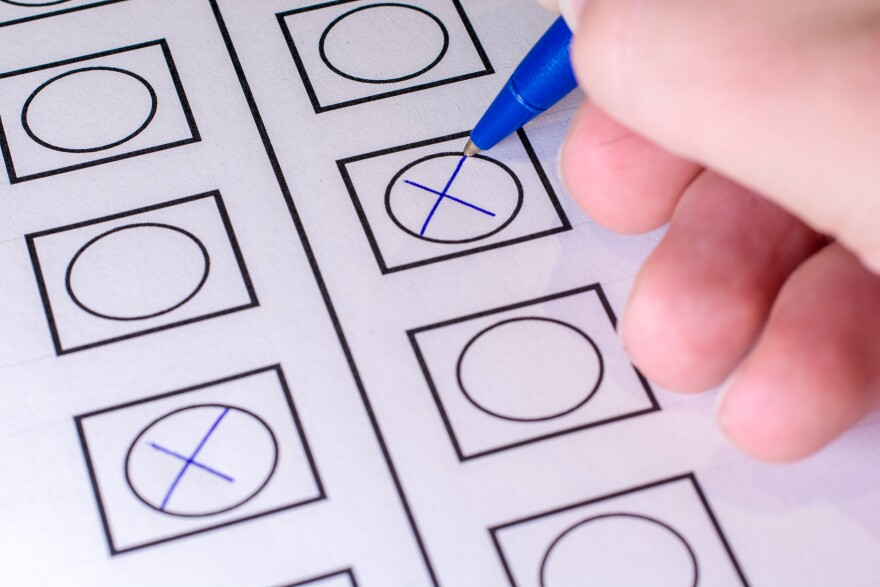 Photo of ballot.
