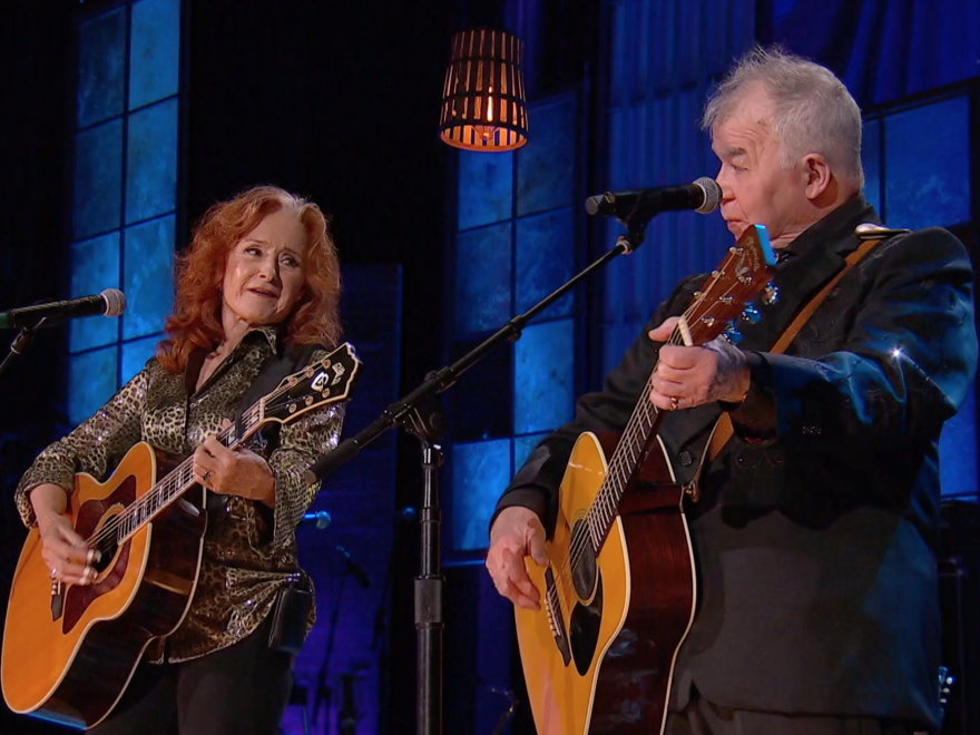 """John Prine's 2019 performance of """"Angel from Montgomery"""" alongside Bonnie Raitt was one of the late Americana pioneer's iconic, genre-defining moments at the event."""