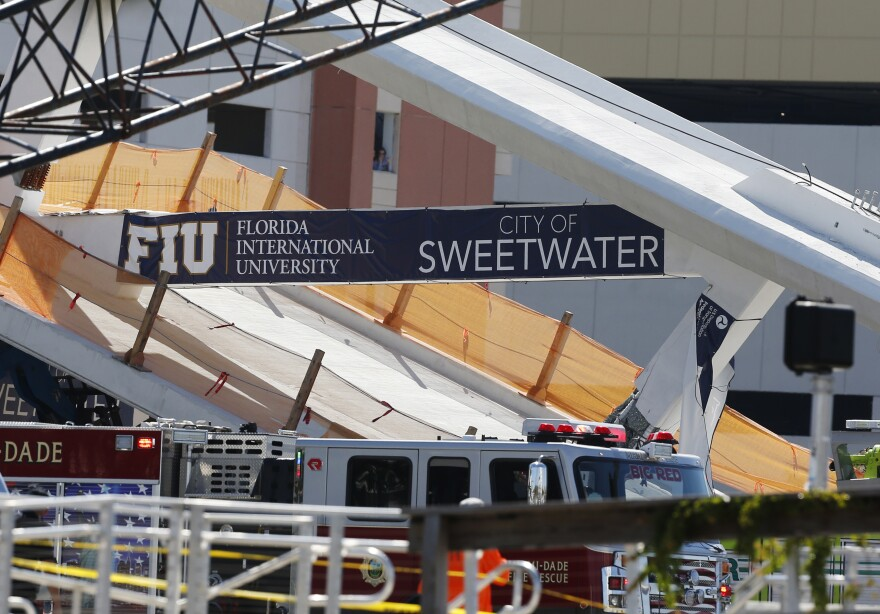 A pedestrian overpass, which connected FIU to the city of Sweetwater, collapsed March 15, 2018. The campus remembered the six victims, one of whom was a student, at a memorial service Friday.