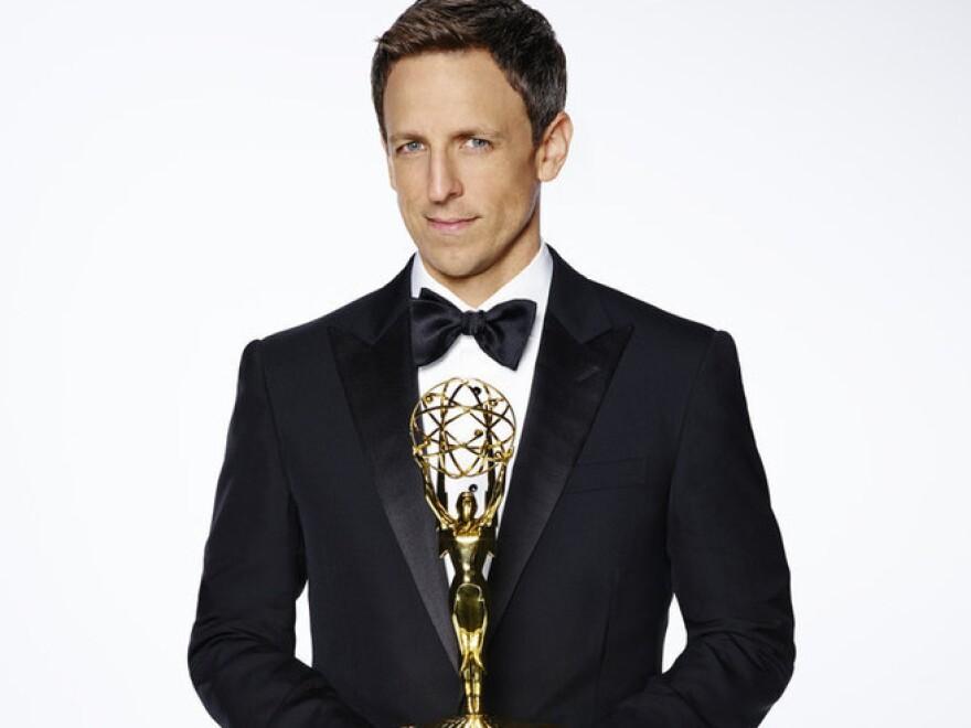 Seth Meyers will host the Emmy Awards on Monday night.