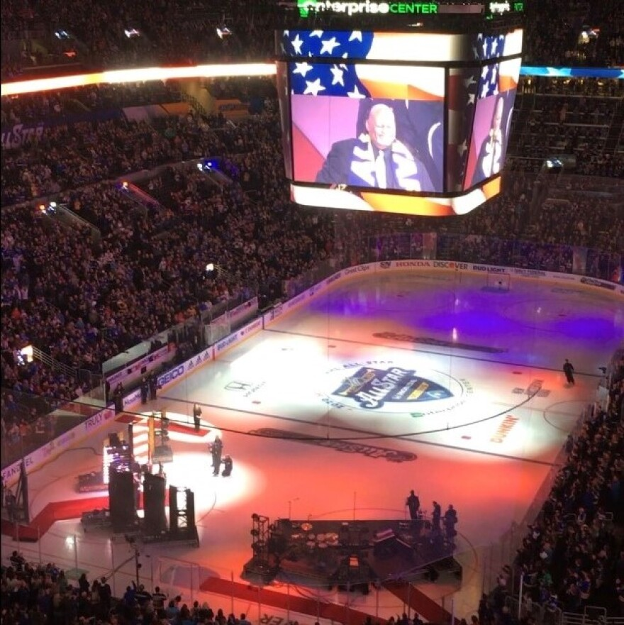 The Enterprise Center in St. Louis played host to the 2020 NHL All-Star Game.