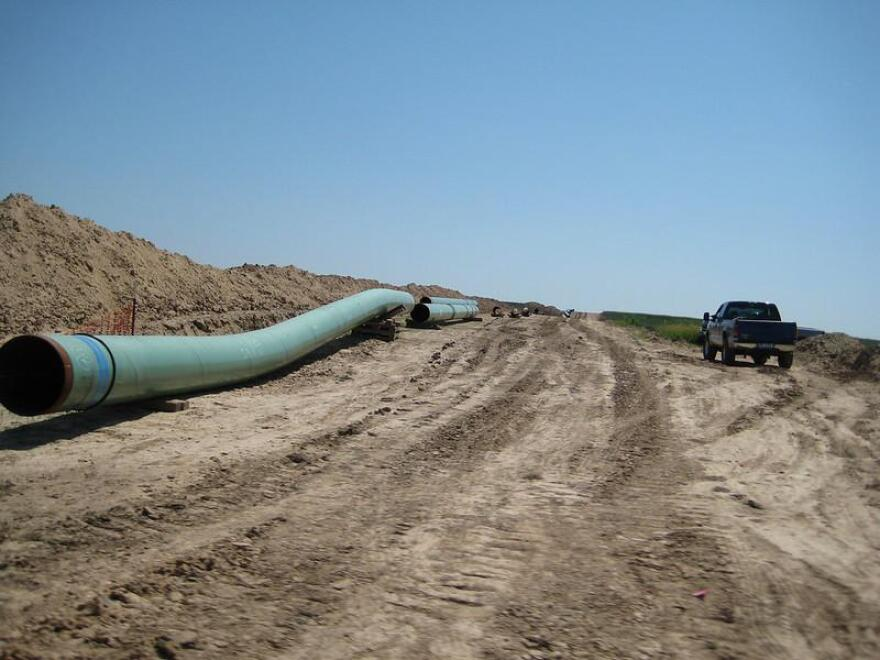 A 2008 photo of construction on part of the the Keystone Pipeline.