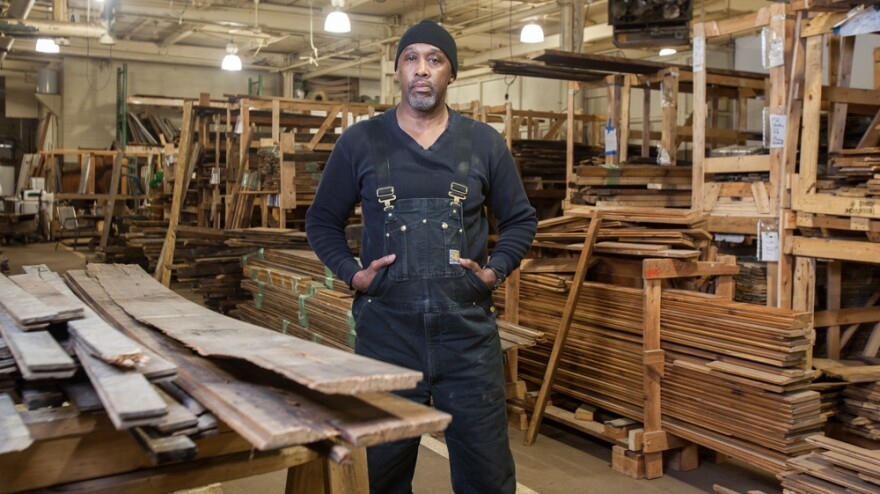 Isaac Lott has been working in deconstruction for four years. He's one of several Reclaim Detroit employees who have spent time in prison and are now starting a new life with the company.
