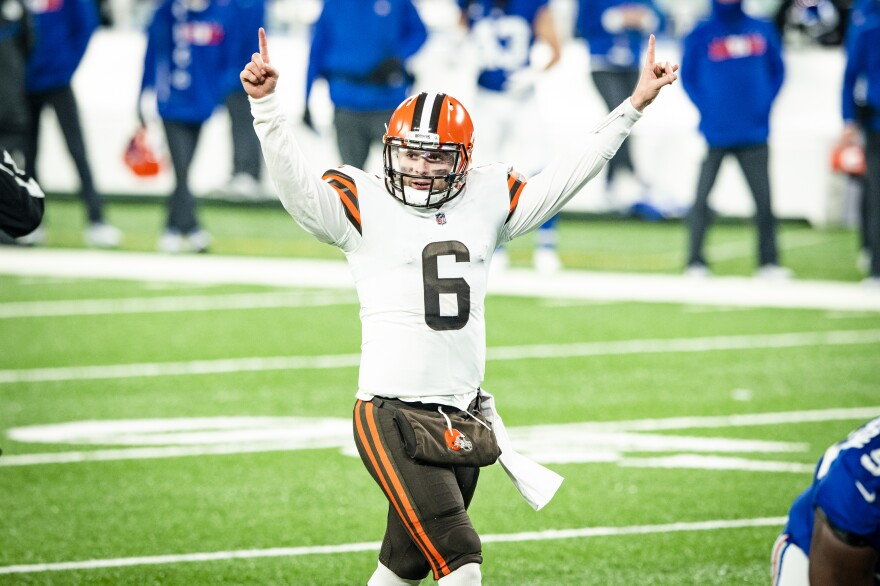 Quarterback Baker Mayfield (6) during a NFL football game between the Cleveland Browns and New York Giants on December 20, 2020 on Sunday Night Football at MetLife Stadium. The Browns won 20-6.