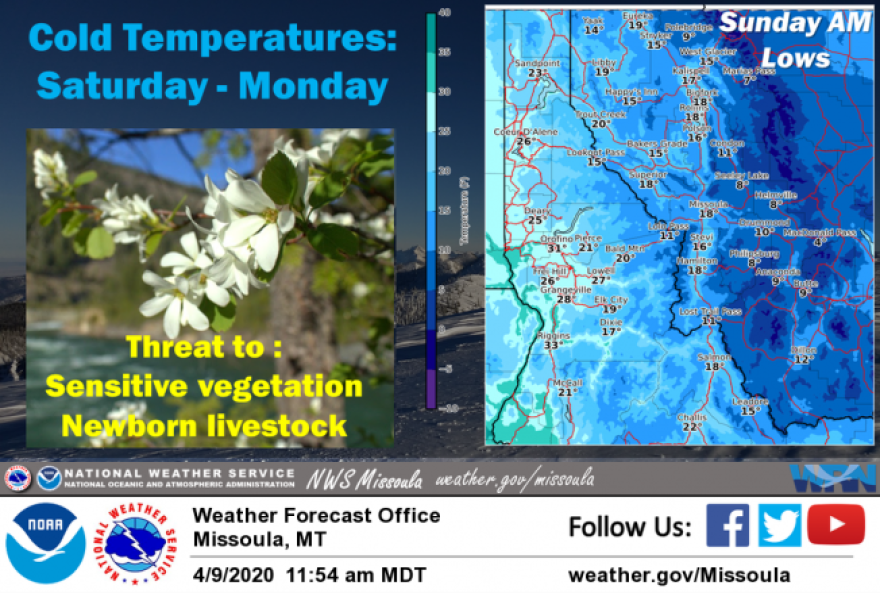 A weather system bringing cooler temperatures, snow and high winds is expected to hit western Montana this weekend.