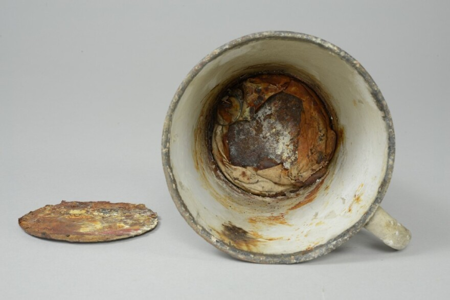 For more than 70 years, the false bottom on this mug hid a Holocaust victim's treasures.