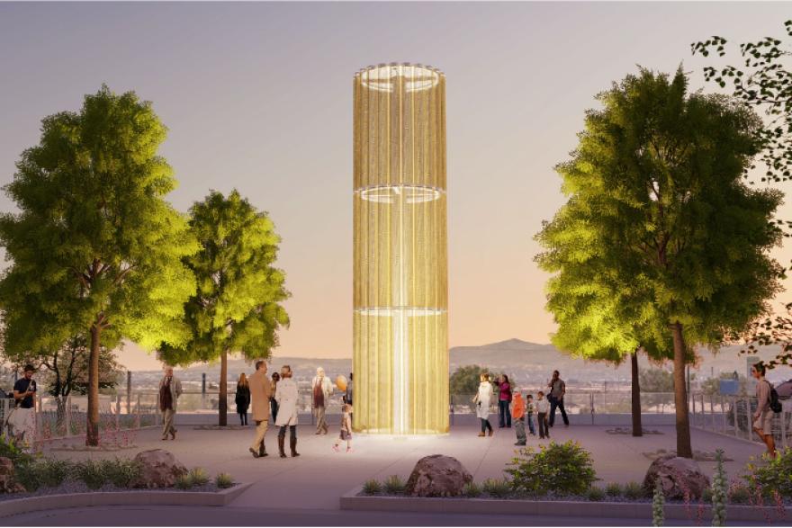 El Paso Shooting memorial rendering