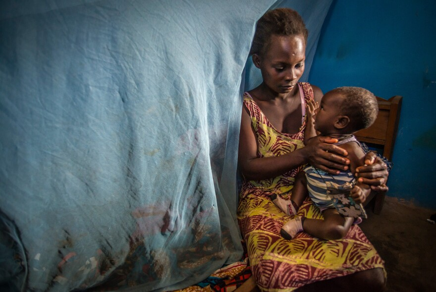 Bed nets have protected Mary Akye and her five children from malaria-carrying mosquitoes in Ghana.