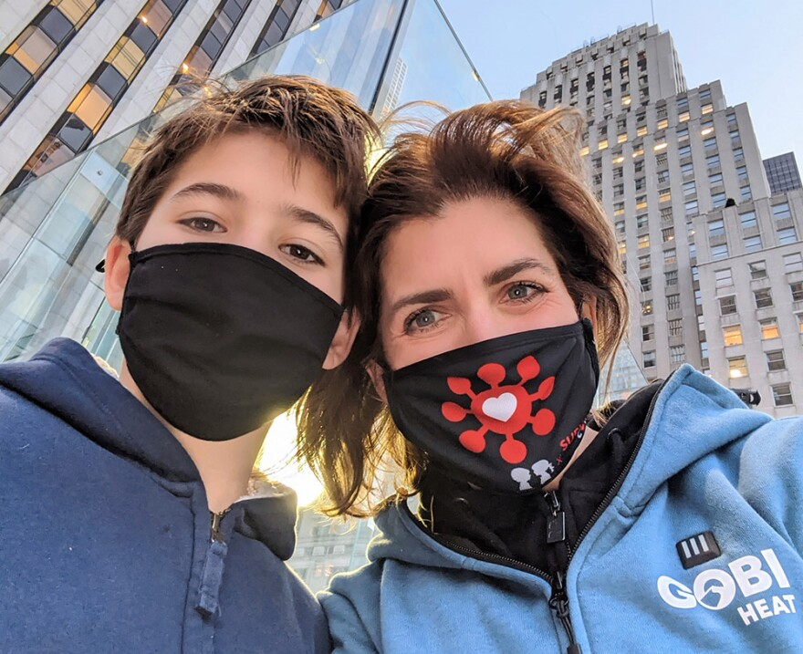 Diana Berrent and her son. (Courtesy)