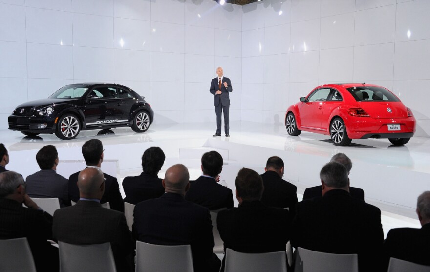 Jonathan Browning, president of Volkswagen Group of America, attends the U.S. unveiling of the 2012 Volkswagen Beetle, a new version of the iconic car. Volkswagen saw a 26.3 percent increase in U.S. sales in 2011, and has its sights on becoming the world's No. 1 carmaker.