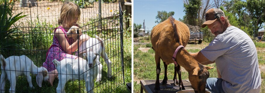 Former Skyline inmate Duwane Engler and his daughter Arianna now raise goats at their home in Pueblo, Colo.