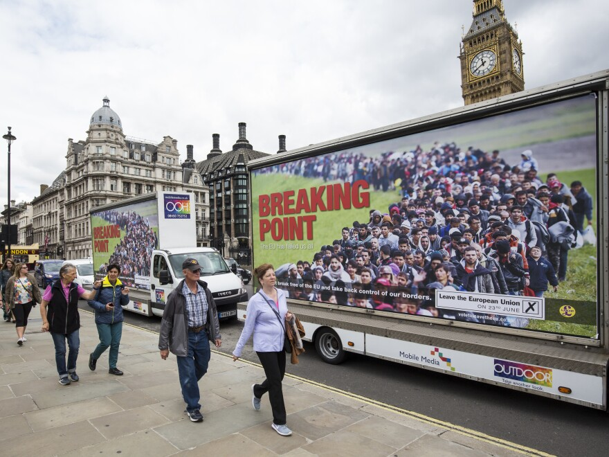 """The United Kingdom Independence Party's """"Breaking Point"""" EU referendum campaign poster was deemed so offensive and reminiscent of Nazi propaganda that even the official Leave campaign condemned it."""