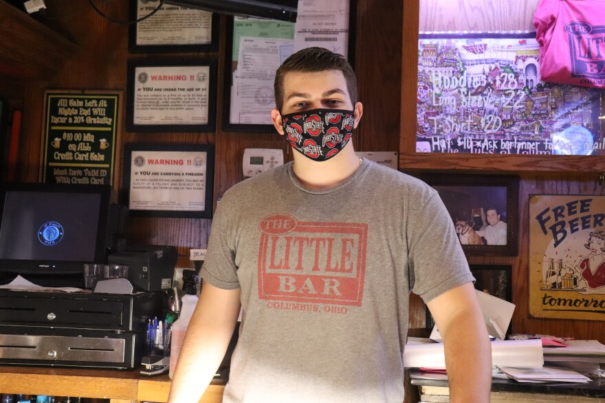 Billy Seach, a bartender at The Little Bar on High Street, says all their reservations are gone for Saturday afternoon to watch the Ohio State football game.