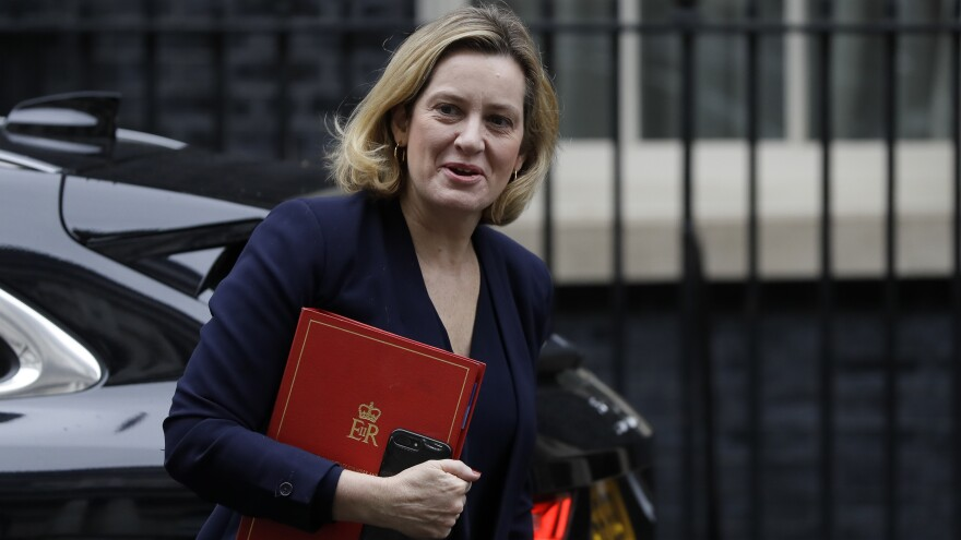 """Amber Rudd has resigned as Work and Pensions Secretary, accusing British Prime Minister Boris Johnson of an """"assault on decency and democracy."""""""