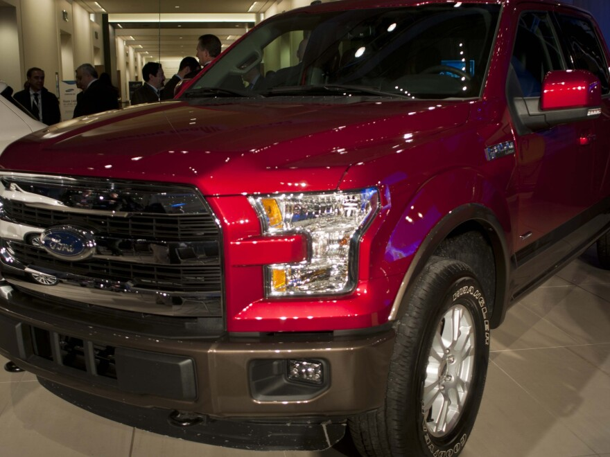 Ford's F-150 truck beat the Chevrolet Colorado and Lincoln MKC as the Detroit auto show's 2015 North American Truck of the Year.