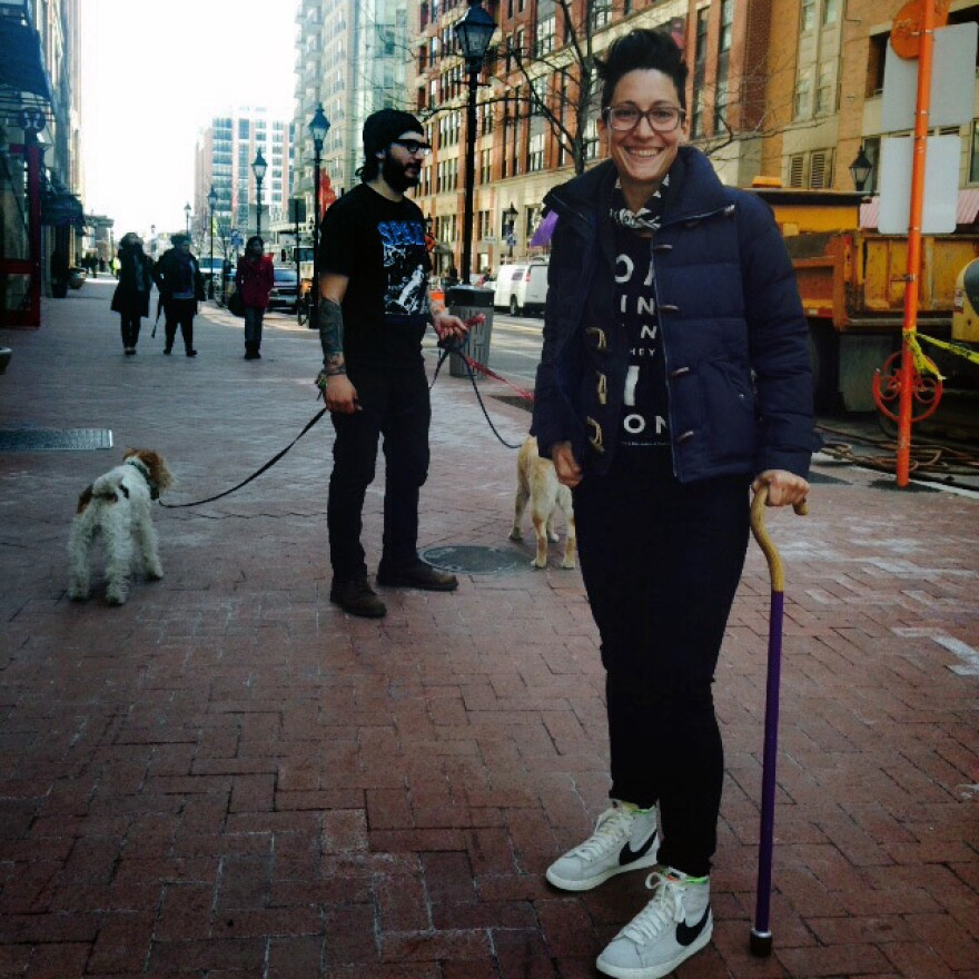 Liz Jackson argues her purple cane is as stylish as any other fashion accessory — so why shouldn't clothing stores carry ones like it?