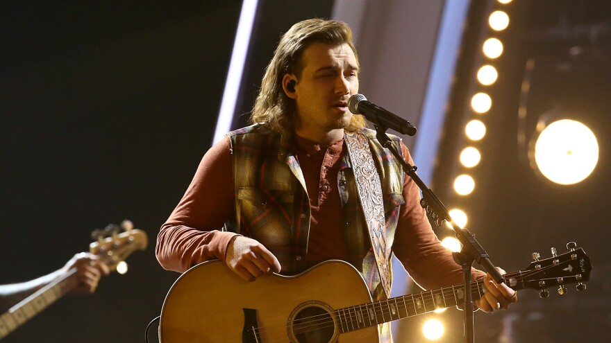Morgan Wallen performing at the 54th annual CMA Awards in November, where he won the New Artist of the Year award.