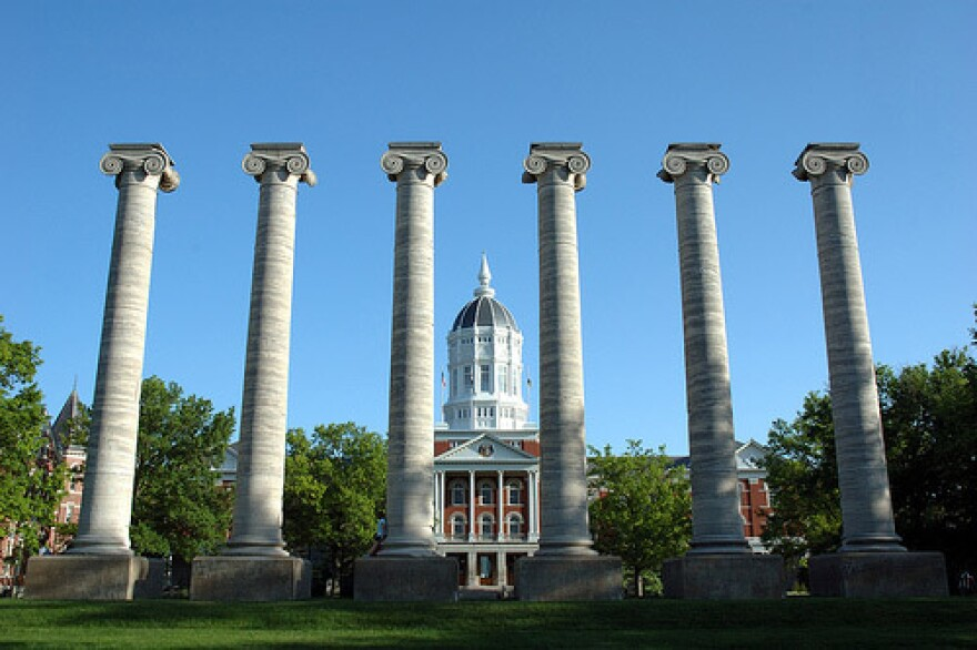 Quadrangle at the University of Missouri-Columbia.