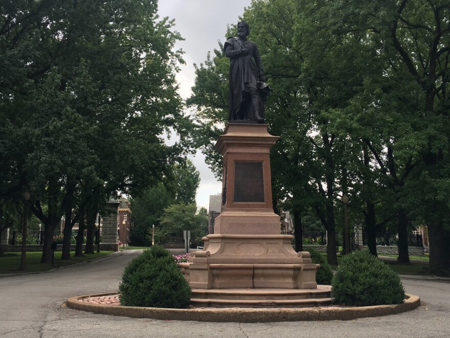 The Christopher Columbus statue has been a source of controversy over the last few years due to Columbus's violent history.