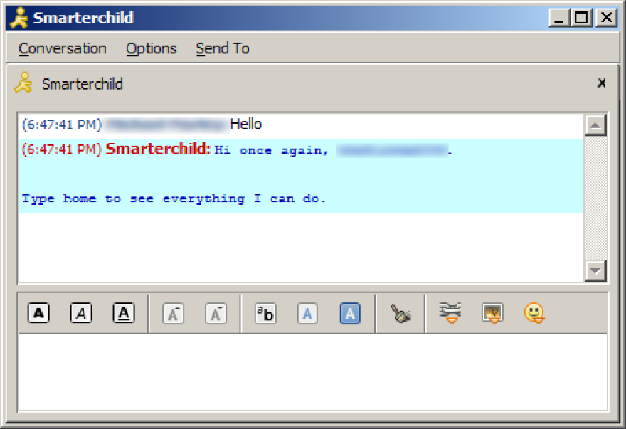 SmarterChild on AIM was one of the earliest chatbots, known to be snarky and sassy.