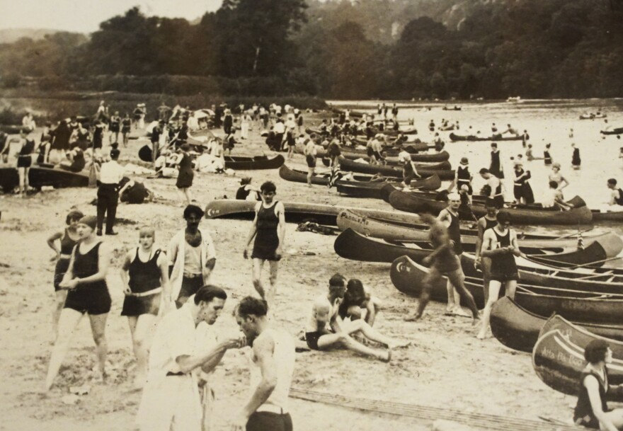 Lincoln Beach was a main attraction in the Castlewood area. The sandy, manmade beach, which no longer exists, was created by dredging the bottom of the Meramec.