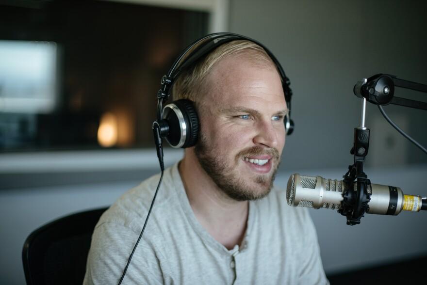 Photo of Preach host Lee Hale in studio.