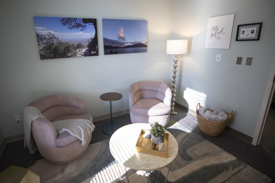 An interview room for sexual assault survivors