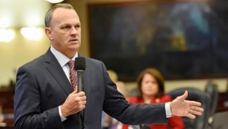House Speaker Richard Corcoran says he draws the line at borrowing money for a massive reservoir South of Lake Okeechobee. Senate President Joe Negron says bonding must be part of the plan.