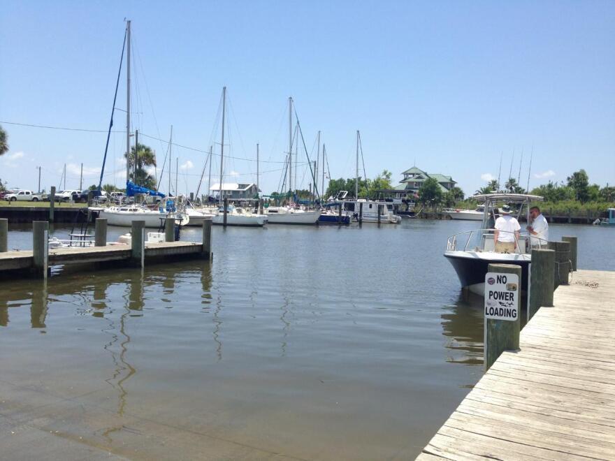 boat on Apalachicola Bay